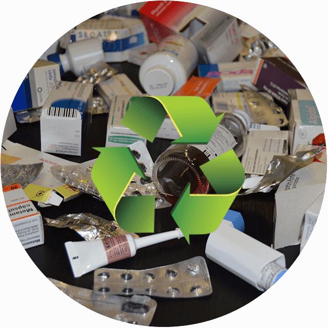 Resultado de imagem para reciclagem de medicamentos