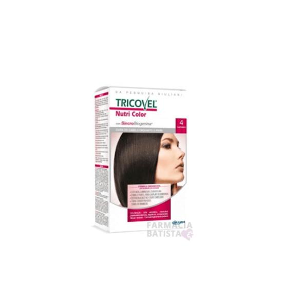 tinta para cabelo Tricovel N4