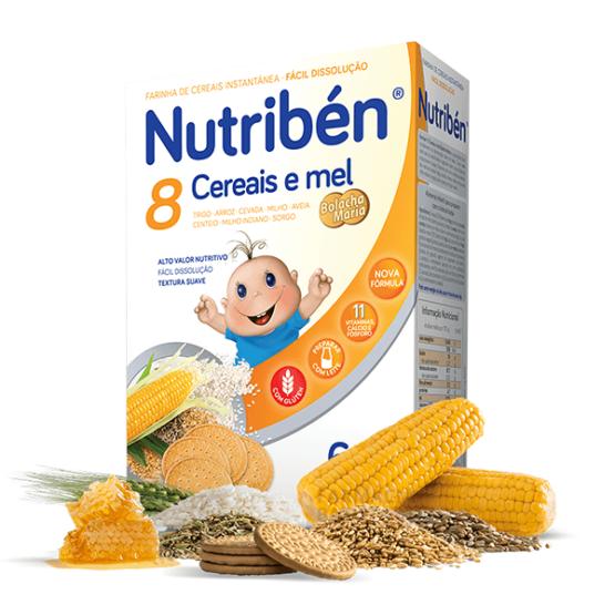 NUTRIBEN 8 CEREAIS MEL BOLACHA MARIA