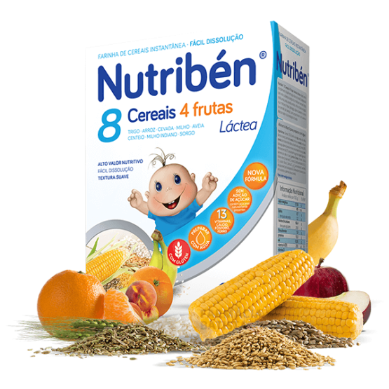 Nutriben 8 Cereais 4 Frutas Lactea