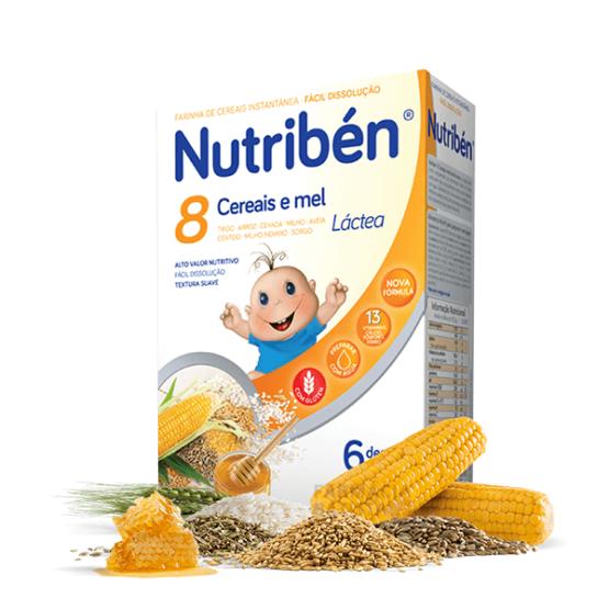 Nutriben 8 Cereais e Mel Lactea